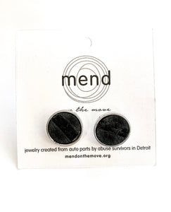 For Him Black Cuff Links