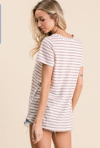 Mauve Stripes Tee