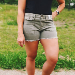 Judy Blue Olive Shorts