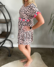 Load image into Gallery viewer, Leopard Tassel Dress