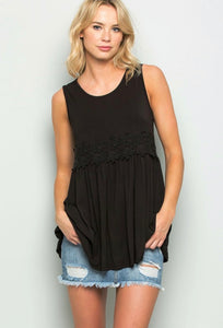 Favorite Black Lace Babydoll Tank