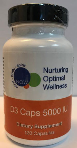 D3 CAPS 5000 IU (120 capsules) Nurturing Optimal Wellness