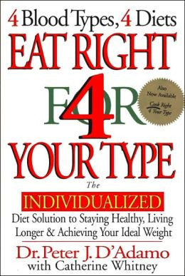 Eat Right For Your Type - 4 Blood Types, 4 Diets