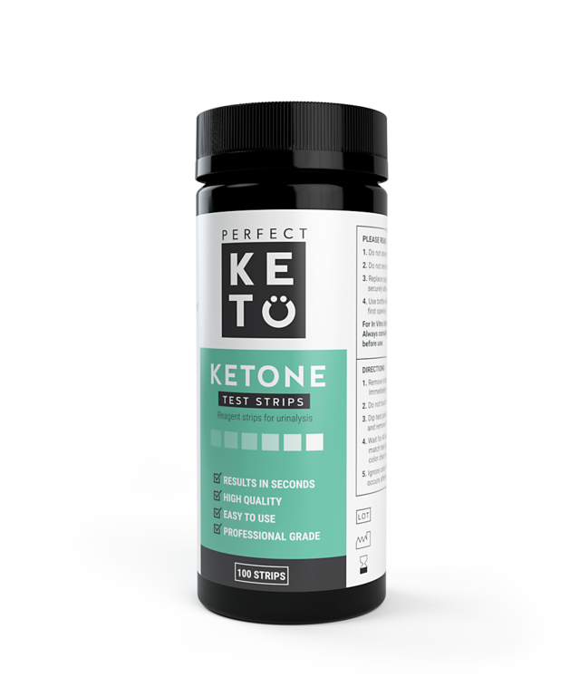 KETONE TEST STRIPS (100 Strips) Perfect Keto