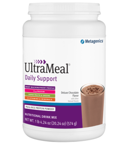 ULTRAMEAL DAILY SUPPORT Pea and Rice Potein Powder - Deluxe Chocolate (14 Servings)