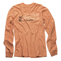 Light Vintage Coral Long Sleeve Excursion - Adventure Print
