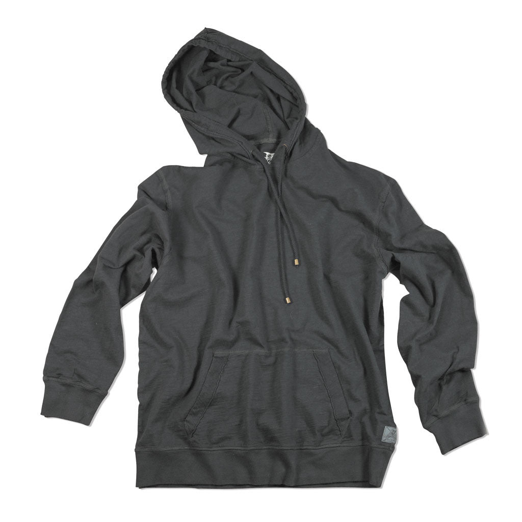 Dockside Slub Hoodie - India Ink S We've designed this casual hoodie as an easy, day-to-day, comfortable pull over. Its elegance is in its simplicity and classic styling.100% cotton, heavy prewashWoven from uneven width fibers creating an unmistakable, slightly  salty  styleMachine wash Perfect for a brisk day on the water or taking off the night-time chill.