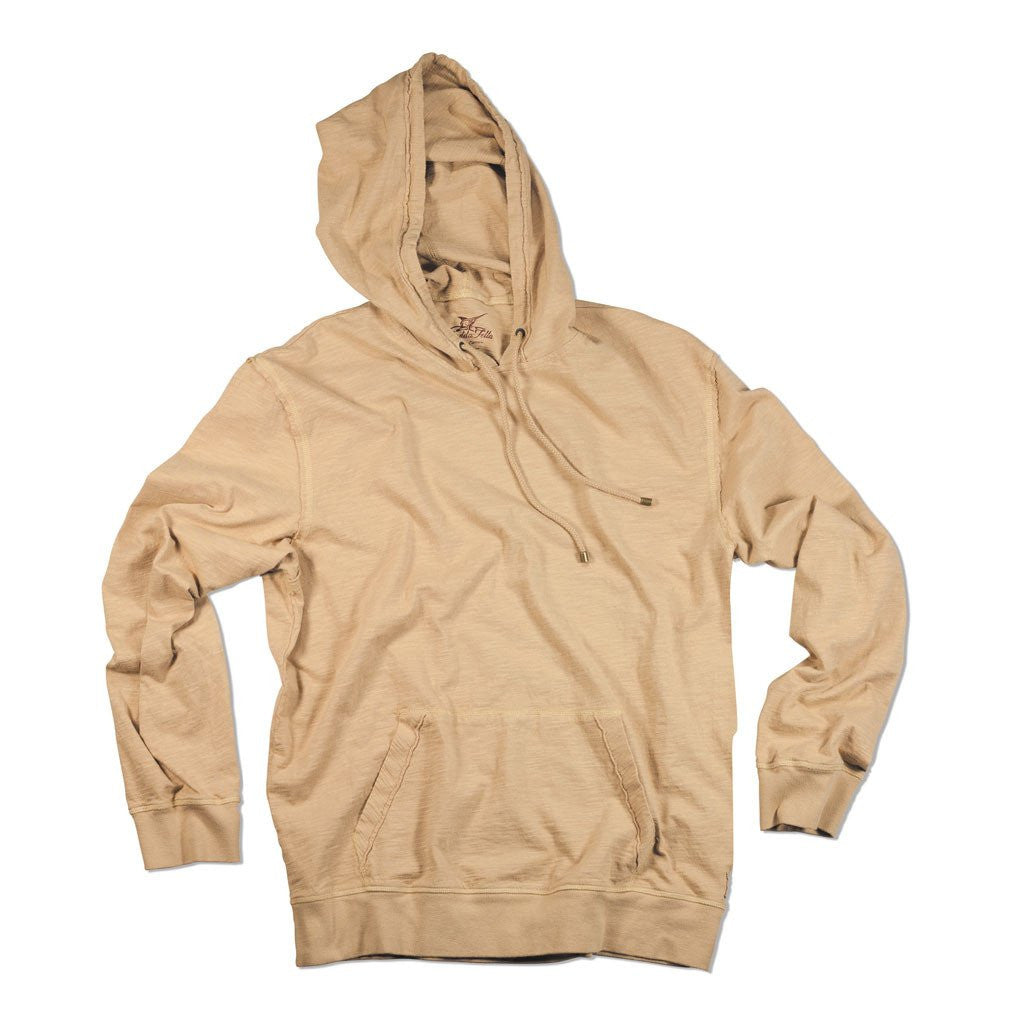 Dockside Slub Hoodie - Khaki XXL We've designed this casual hoodie as an easy, day-to-day, comfortable pull over. Its elegance is in its simplicity and classic styling.100% cotton, heavy prewashWoven from uneven width fibers creating an unmistakable, slightly  salty  styleMachine wash Perfect for a brisk day on the water or taking off the night-time chill.