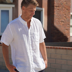 Sail White Short Sleeve Ernest Linen