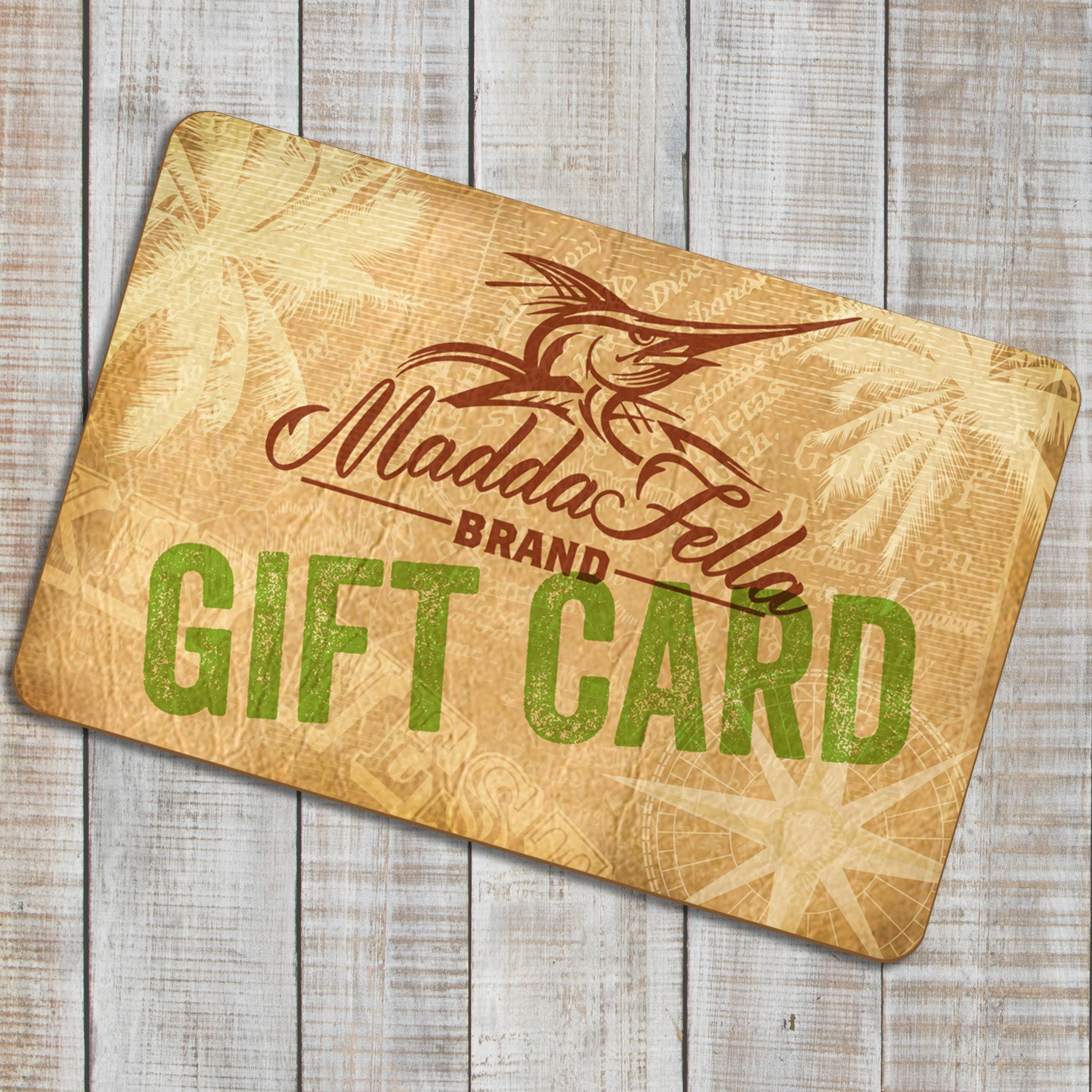 Shopping for someone else but not sure what to give them? Give them the gift of choice with a Madda Fella Gift Card.Gift cards are delivered by email and contain instructions to redeem them at checkout.Our gift cards have no additional processing fees.