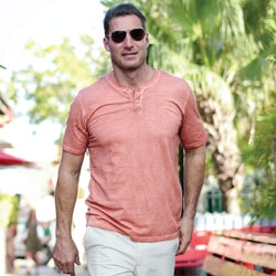 Pink Sand Oil Wash Henley
