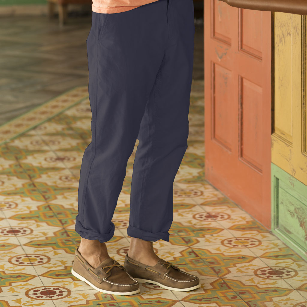 oxford cross dye roll up pant sand - india ink 30
