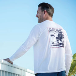 Sail White Suntek Long Sleeve Tee