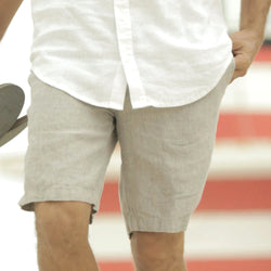 Pebble Gray Truman Linen Short