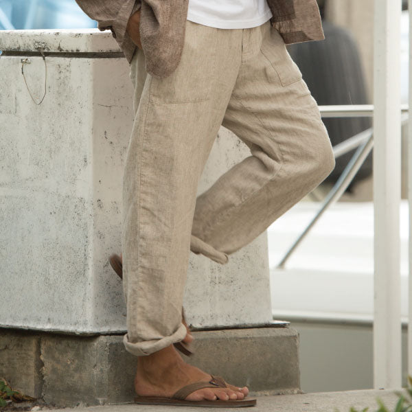 Linen Pants Collection Lifestyle Image