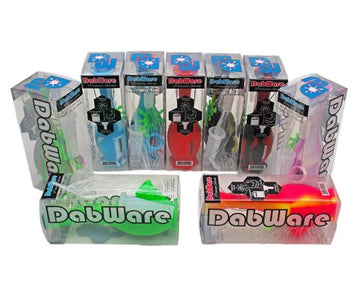 "Silicone Bubbler Dabware Platinum 6"" Mini Bong"