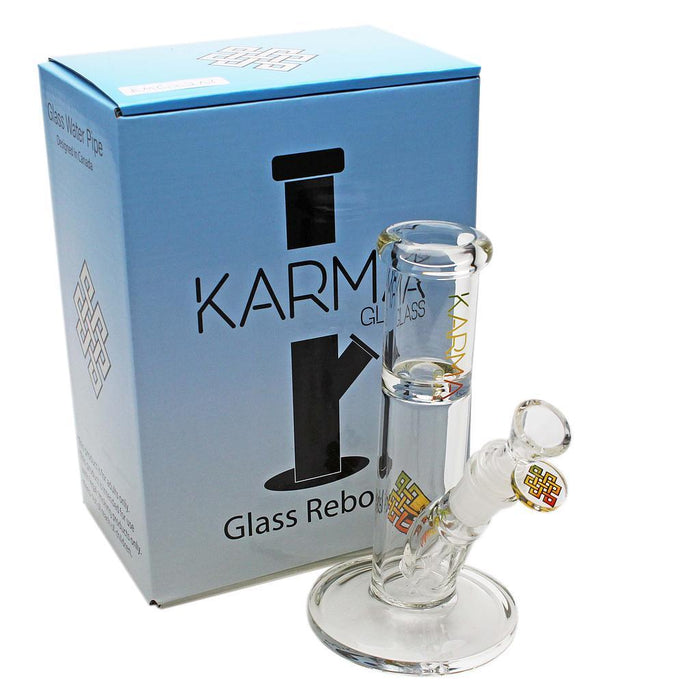 "Glass Bong Good Karma 7"" Mini Straight - Karma"