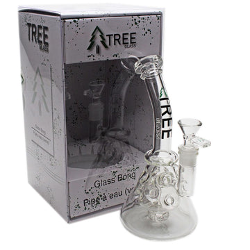 "Tree Glass 10"" Perked Fabrige Beaker Bubbler"
