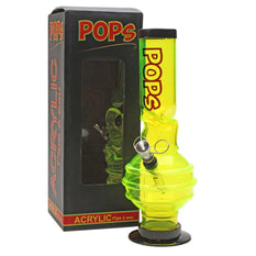 "Acrylic Bong Pops 12"" Ice Catcher Bubble Base - Pops"