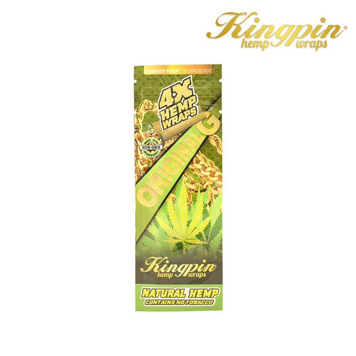 RTL - Kingpin Hemp Wraps 4X Original G (Natural) - Kingpin