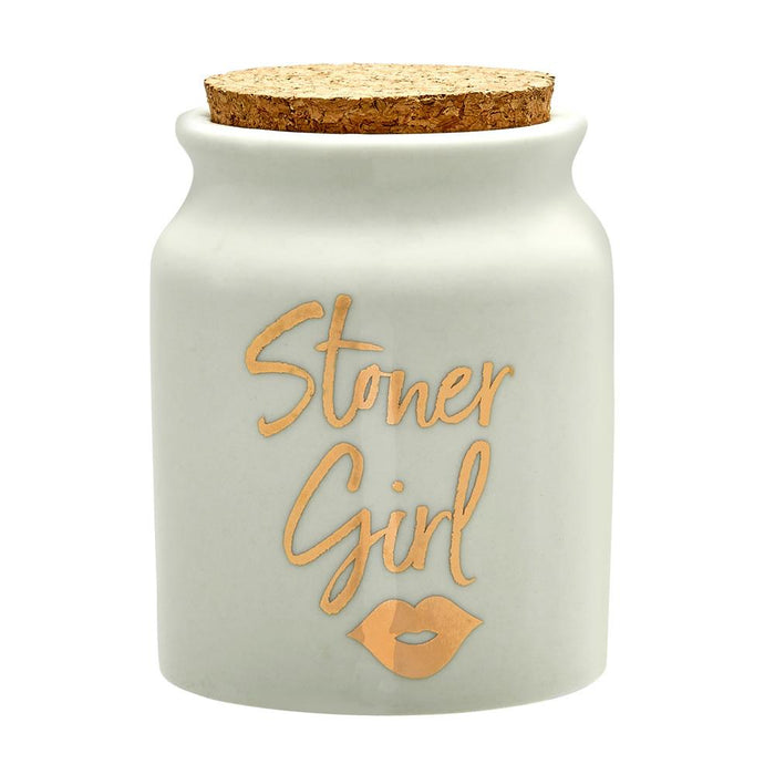 Ceramic Stoner Girl Stash Jar - Roasted and Toasted