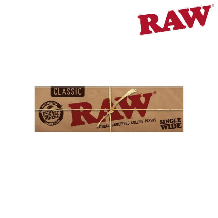 RTL - Rolling Papers RAW Classic Hemp Single Wide Single Window - Raw