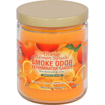 Smoke Odor Candle 13oz Orange/Lemon