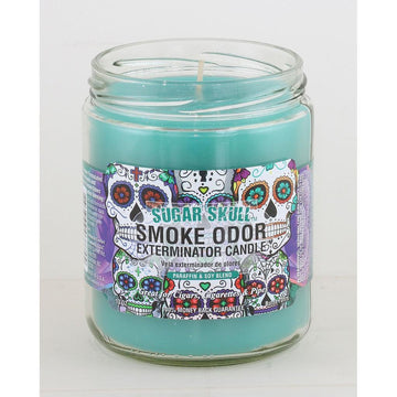 Smoke Odor Candle 13oz Sugar Skull
