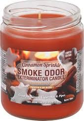 Smoke Odor Candle Limited Edition 13oz Cinnamon Sprinkle