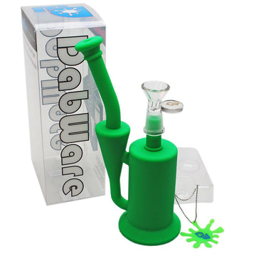 "Silicone Bubbler - Dabware Platinum 8"" Recycler"