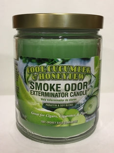 Smoke Odor Candle 13oz Cool Cucumber and Honeydew - The Joint Cannabis