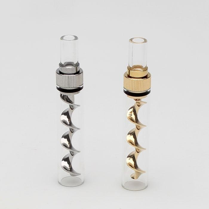 Mini Glass Blunt With Corkscrew Twist - Genuine Pipe Co.