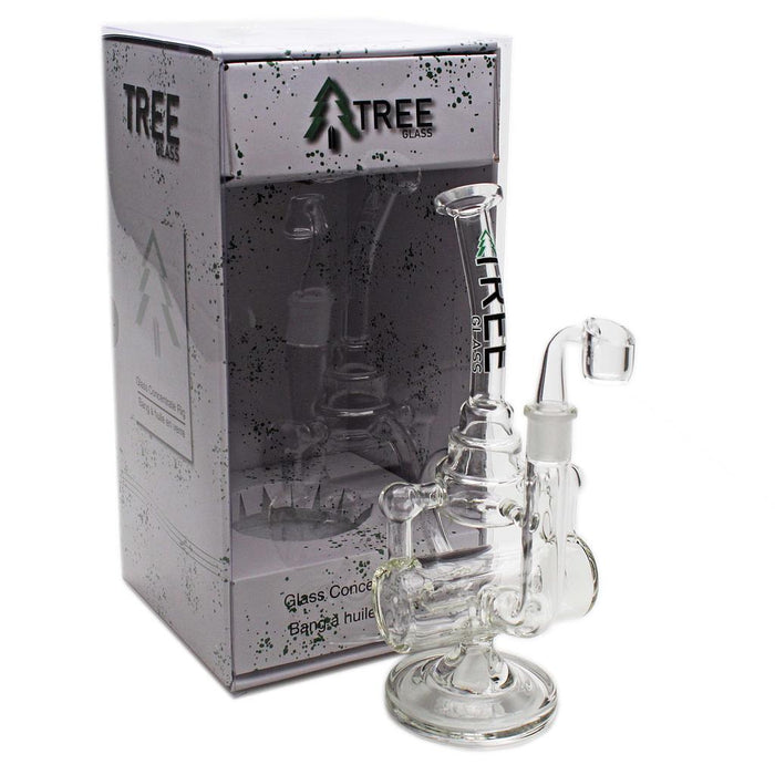 "Glass Rig Tree Glass 11"" Inline Cakecycler with Banger - Tree Glass"