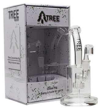 "Glass Concentrate Rig Tree Glass 6"" Circ Perc with Banger"