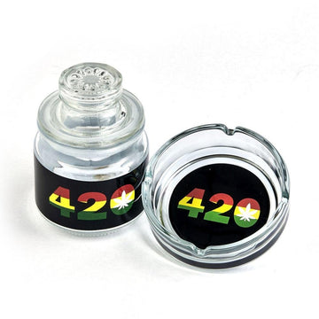 Glass Stash Jar And Ash Tray Set 420
