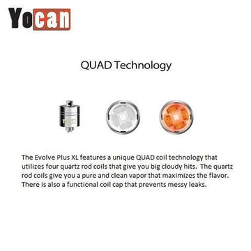 RTL - Yocan Quad Quartz Evolve Plus XL Coil (Single)