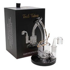 "Glass Concentrate Rig Tech Tubes 6"" Can Bent Neck Quad Inline - Tech Tubes"