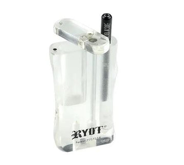 **NEW** Ryot Large Acrylic Taster Box with **Matching Bat** - CLEAR