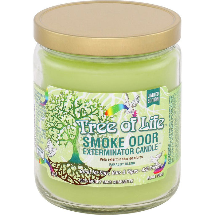 Smoke Odor Candle Limited Edition 13oz Tree of Life - Smoke Odor