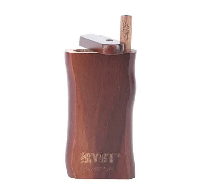 **NEW** Walnut Wood Ryot Large Wooden Taster Box with **Matching Bat** - The Joint Cannabis