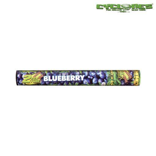 RTL - Cyclone Hemp Wraps Blueberry 2-Pack Cones - Cyclone