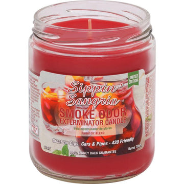 Smoke Odor Candle 13oz Limited Edition Sippin Sangria