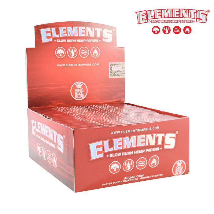 RTL - Elements Red KS Slim Papers - Elements