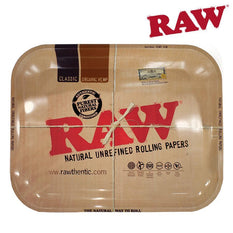 "Rolling Tray RAW Metal Large 13.6"" x 11"" x 1.2"" - Raw"