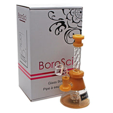"Glass Rig BoroSci 8"" Crystal Mouthpiece Circ Perc with Banger - BoroSci"