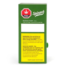 Extracts Inhaled - SK - Spinach Rockstar Kush THC 510 Vape Cartridge - Format: - Spinach