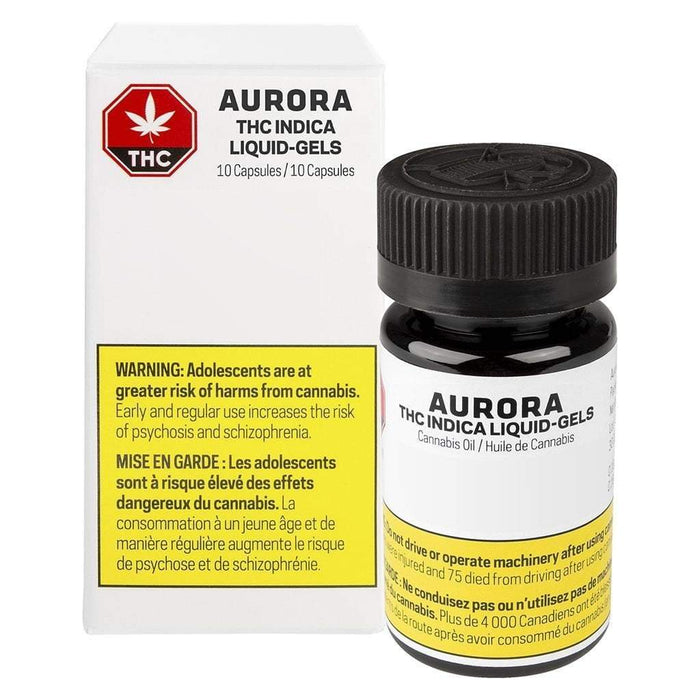 Extracts Ingested - Aurora Indica Oil Gelcaps - Format: - Aurora