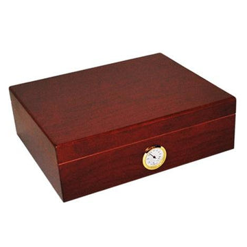 Humidor 35 Cigar Cedar Storage Walnut