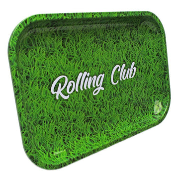 Rolling Club Metal Rolling Tray - Medium - Grass