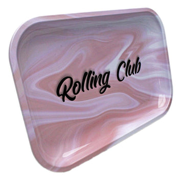 Rolling Club Metal Rolling Tray - Medium - Pink